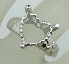 Free Shipping 9.0x12.0mm Pear Shape 925 Sterling Silver Semi Mount Ring Jewelry