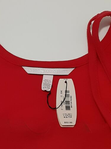 Details about  /Victorias Secret Christmas Tank Top I Do Naughty Nicely Size XS or S Red NWT
