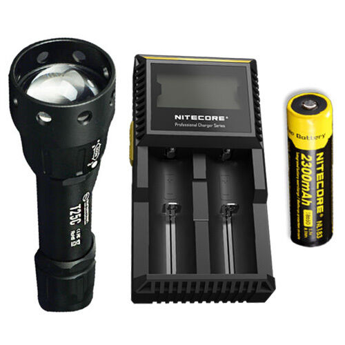 Sunwayman T25C CREE XM-L2 U3 LED Flashlight  w  NL183 Battery & D2 Charger  online shopping and fashion store