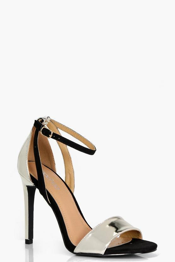 Natasha Contrast Two Part Heel UK 6 EU 39 JS37 17