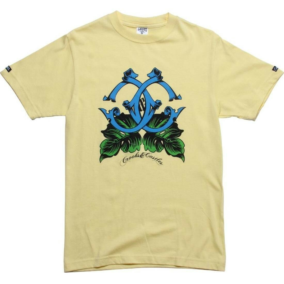 Crooks and Castles Island C;s Canary T Shirt 840706CAN