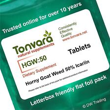 60 Tabs 50% Icariin Horny Goat Weed. Helps Recovery - Can Improve Intimacy