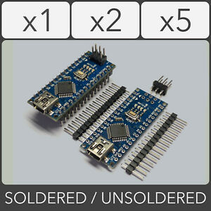 Arduino-Nano-v3-0-ATmega328P-AU-CH340-5V-16MHz-Soldered-Unsoldered-Blue