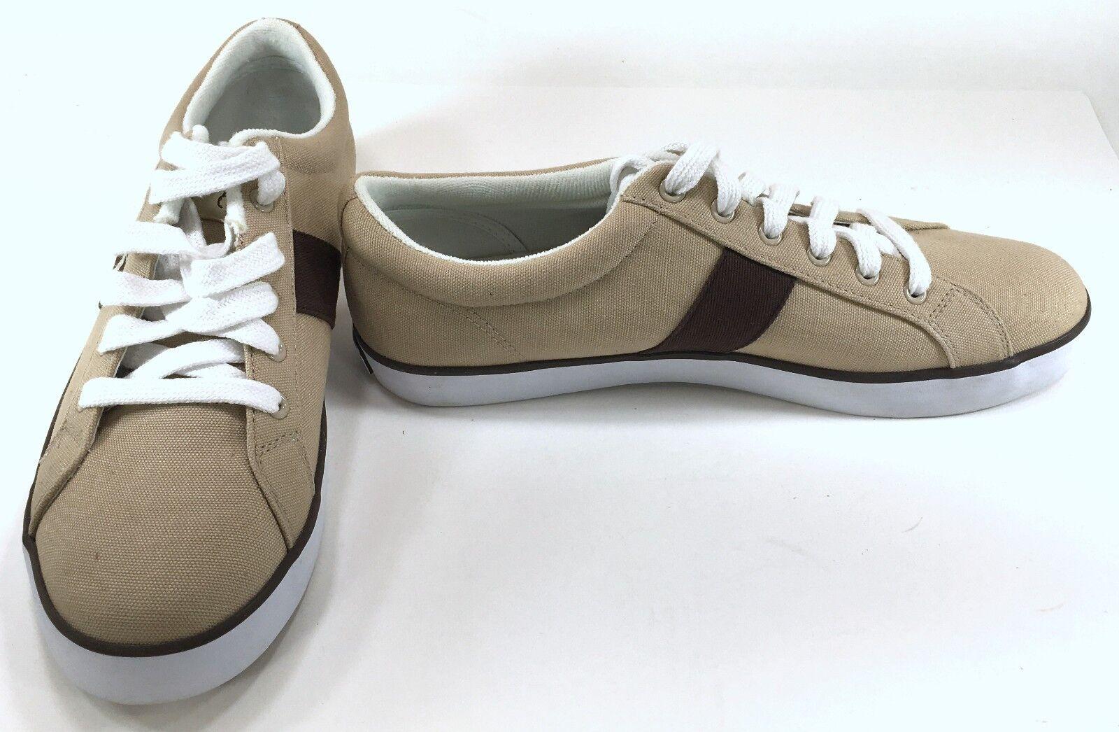 Polo Ralph Lauren shoes Harold Canvas Khaki Chocolate Sneakers Size 12