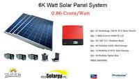 6,210 Watt Solar Panel System Grid Tie Polycrystalline 6kw