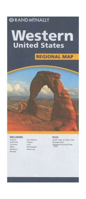Rand McNally Western United States Regional Map Free Shipping