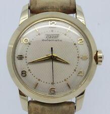 VINTAGE Tissot Automatic Gold Cap Mens 33.5mm Watch NOS Unworn MINT Waffle Dial