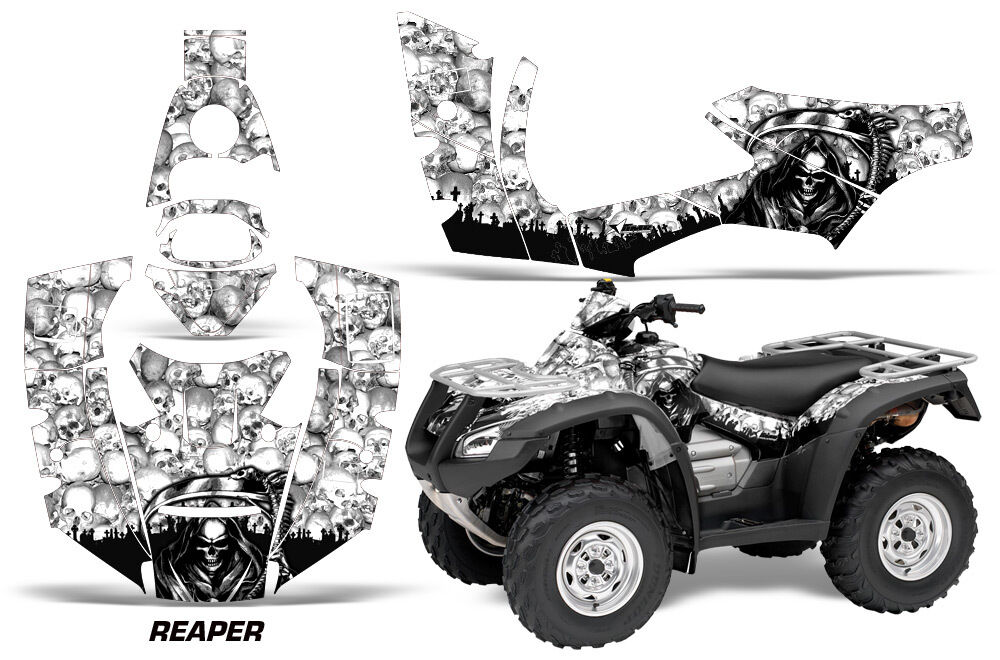 Atv Aufkleber Grafik Kit Quad für für für Honda Fourtrax Rincon 2006-2018 Reaper Wht 3759e9