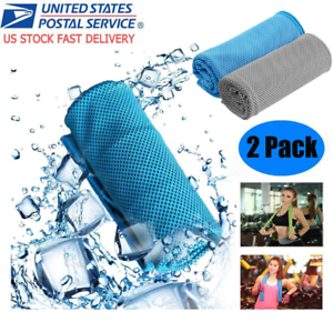 2PACK-Instant-Mesh-Cooling-Towel-ICE-Cold-Golf-Cycling-Gym-Sports-Outdoor-Towel