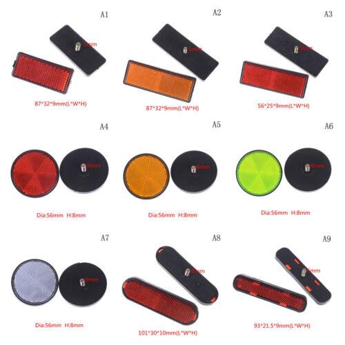 2X verschiedene Reflektoren Universal für Motorräder ATV Bikes Dirt BikeUW4RSSN