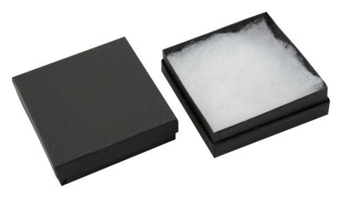 JEWELLERS MATT BLACK  COTTON FILLED JEWELLERY GIFT PRESENTATION STORAGE BOXES