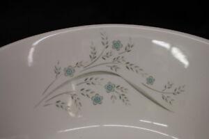 58 Pc NOS Kenmark China Kem2 Pattern Blue Flowers Gray Leaves, USA 1960's (181)