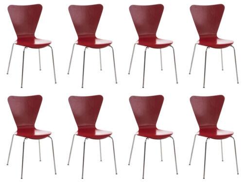 8x Besucherstuhl Calisto Stapelstuhl Warteraumstuhl Stapelbar Küchenstuhl