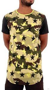 Time-Is-Money-Uomini-Ragazzi-Mimetico-Militare-Lunghe-Hip-Hop-Maglietta-Camicie