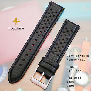 Classic-Corfam-Style-Racing-Perforated-Premium-Calf-Black-Leather-Watch-Strap