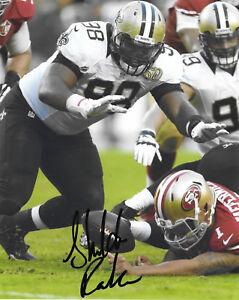 New Orleans Saints SHELDON RANKINS Signed Autographed Football 8x10 Photo COA!!