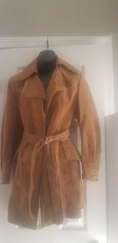 daim en Of femme en pour Manteau America Process cuir Vintage Artisanat 1960 des années SUqvwZ