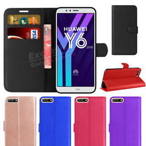 For-Huawei-Y6-2018-Phone-Case-Luxury-Leather-Magnetic-Flip-Wallet-Stand-Cover