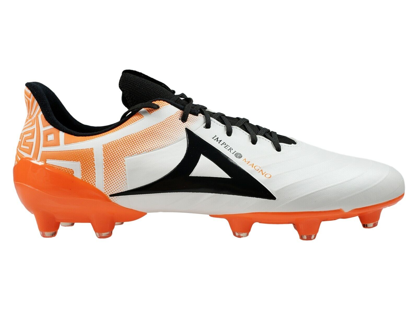 Men's Pirma Soccer Cleats Imperio Magno Coloree biancaarancia Firm Ground
