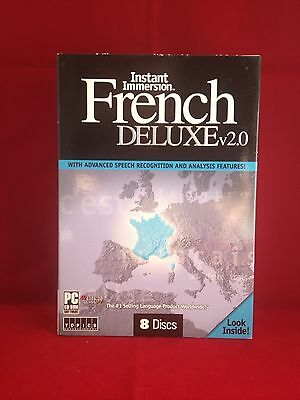 Topics Instant Immersion FRENCH DELUXE v 2.0 8 CD Windows Language Software New