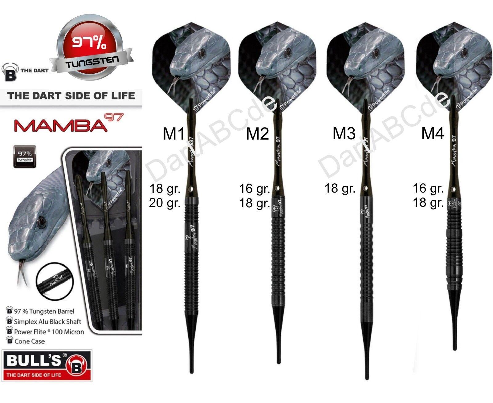 BULL'S Mamba-97 Soft Dart 97% Tungsten