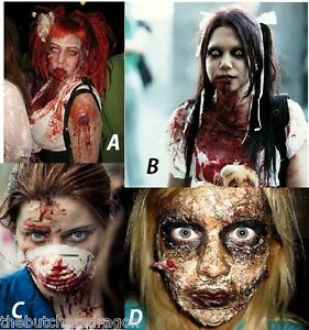 Zombie-Skin-amp-Fake-Blood-with-Instructions-Halloween-Make-up-FX-Fancy-Dress