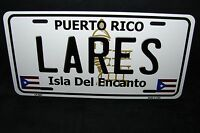 Puerto Rico Lares Isla Del Encanto Metal Novelty License Plate For Cars