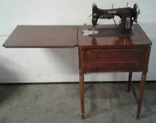 Old Vintage Domestic Rotary 151 Dark Brown Painted Cast Electric Sewing Machine