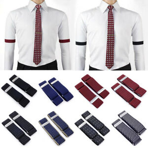 Men Women Adjustable Elastic Shirt Sleeve Holder Garter Strap Arm Band Supplies