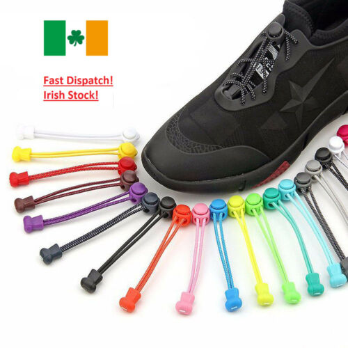 No Tie Elastic Lock Lace System Lock Shoe Laces Shoelaces Runners Kids Adults