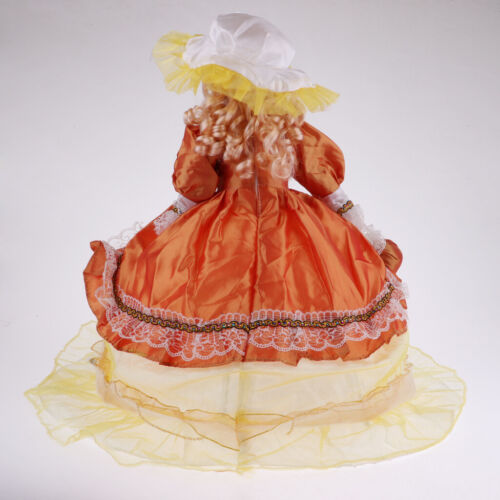 Elegant Victorian Porcelain Doll Splicing Doll 18inch Yellow Dress