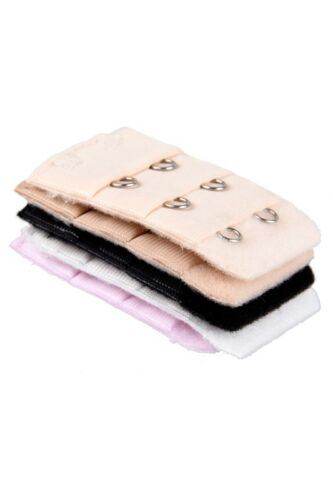5 Pcs 2 Hooks Bra Extender Strap Extention Pale Pink Beige White for Ladies D7T1