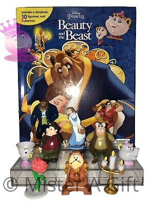 DISNEYS BEAUTY AND THE BEAST BUSY BOOK STORY 12 FIGURES AND A PLAYMAT UK STOCK