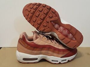 new arrival 131a4 1f1a9 Details about NIKE WOMEN'S AIRMAX 95 CRIMSON/PEACH/ROSE GOLD SNEAKERS  307960-607 SIZE: 9