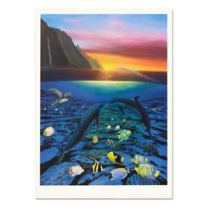 Wyland-034-Kiss-for-the-Sea-034-Signed-Limited-Edition-Art-COA