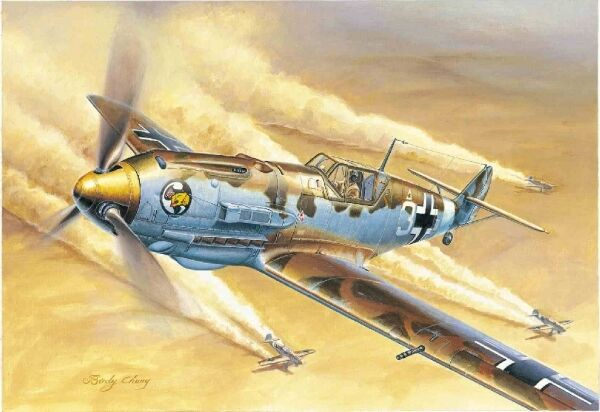 Messerschmitt Bf 109e-4 Trop Aircraft 1 32 Plastic Model Kit TRUMPETER