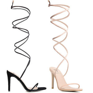 High Heel Shoes That Lace Up The Leg