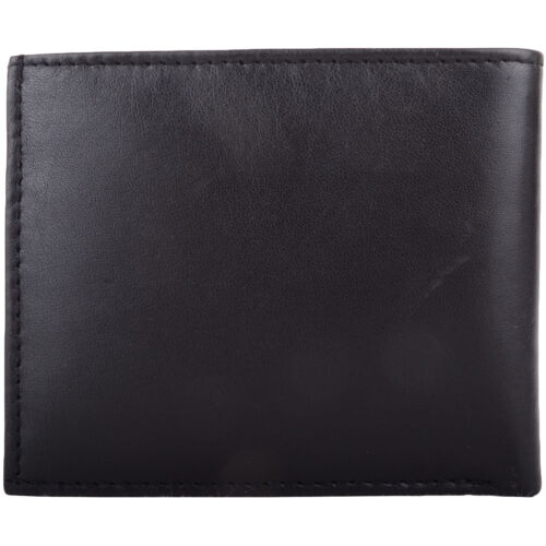 Gents Soft Leather Bi-Fold RFID Money Wallet Coin Holder Mens