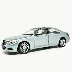 Welly-1-24-Mercedes-Benz-S-Class-S500-Silver-Diecast-Model-Car-New-in-Box