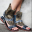 Womens-Vitnage-Open-Toe-Punk-Retro-Sheep-Leather-Sandals-Boot-Suede-Shoes-Zip thumbnail 13