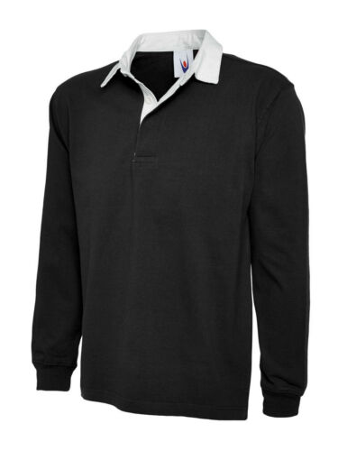 Mens Premium Cotton Rugby Shirt Size XS to 3XL SPORTS WORK CASUAL CASUAL 402