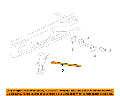 GM OEM Spare Tire Carrier-Guide Tube 15078833