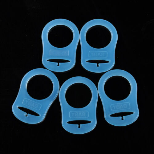 5Pcs Silicone Button Baby Dummy Pacifier Holder Clip Adapter for MAM Rings Color