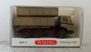 Wiking-H0-0645-50-Schuttwagen-Mercedes-Benz-neuwertig-mit-OVP