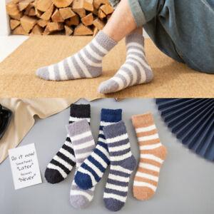 1Pair Mens Winter Socks Thickened Warmer Sports Socks Casual Ankle High Socks