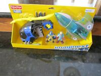 Fisher Price Imaginext Dc Super Friends Batman Helicopter Mr. Freeze Jet Plane
