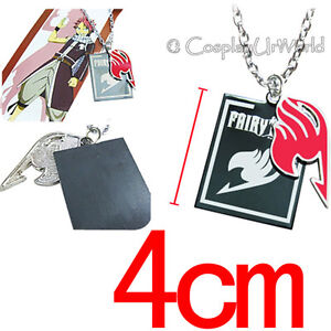 Details About Fairy Tail Anime Manga Cosplay Natsu Red Tattoo Logo Jewelry Necklace Pendant