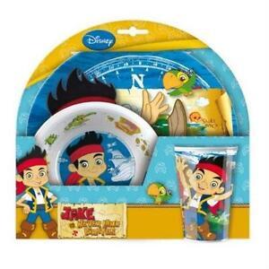 Jake-Et-Le-Neverland-Pirates-Ustensiles-de-Cuisine-Pour-Enfants-Repas-Temps-Set-Assiette-Bol-Gobelet