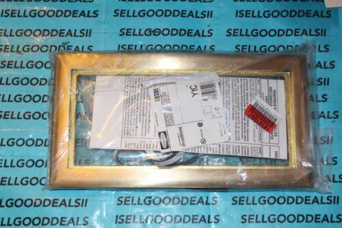 Hubbell SB3085 Scrubshield Carpet Flange 3 Gang Floor Box B4314 Brass Frame New
