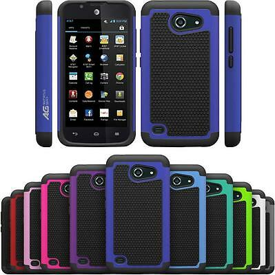 AG HexGrid Hybrid Armor Case for AT&T Fusion 3 / Huawei Tribute 4G LTE (Y536A1)